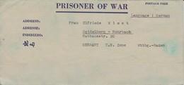 POW Kriegsgefangenenpost PWE 445 165th Lab. Supv. Center APO 21 Nach Heidelberg - 1946 (36192) - Vereinigte Staaten