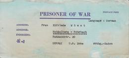 POW Kriegsgefangenenpost PWE 445 165th Lab. Supv. Center APO 21 Nach Heidelberg - 1946 (36194) - Vereinigte Staaten