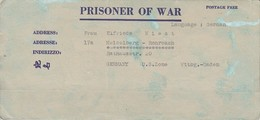 POW Kriegsgefangenenpost PWE 445 165th Lab. Supv. Center APO 21 Nach Heidelberg - 1946 (36196) - Vereinigte Staaten