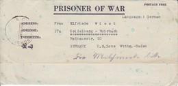 POW Kriegsgefangenenpost PWE 445 165th Lab. Supv. Center APO 21 Nach Heidelberg - 1946 (36197) - Vereinigte Staaten