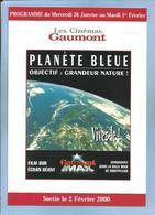 """""""Planète Bleue Objectif : Grandeur Nature ! Vivez-le !"""" 2 Scans Uniquement Salle Gaumont IMAX De Montpellier (34) 2000 - Cinema Advertisement"""