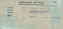 POW Kriegsgefangenenpost PWE 445 165th Lab. Supv. Center APO 21 Nach Heidelberg - 1946 (36200) - Vereinigte Staaten