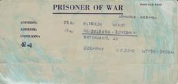 POW Kriegsgefangenenpost PWE 445 165th Lab. Supv. Center APO 21 Nach Heidelberg - 1946 (36200) - United States