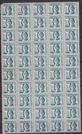 Sarre 1948 - N°232** Feuillet De 50 Timbres - Luxe - 1947-56 Occupation Alliée