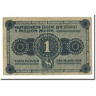 Billet, Allemagne, 1 Million Mark, 1923, 1923-08-15, KM:S1101, SPL - [ 3] 1918-1933: Weimarrepubliek
