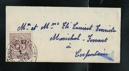 LAC (format: 95 Mm X 37 Mm  Avec N° 856 (65 Cent) Obl. Boussu - Lez - Walcourt 1952 - 1951-1975 Heraldieke Leeuw