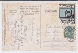 """Spendemarke FRANKENBURG FONDS DES A.O.B Auf AK """"Es Liegt Eine Krone Im Grünen Rhein"""". Tied Vignette - Fantasie Vignetten"""