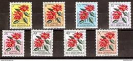 EL SALVADOR 1960 FLOWERS YV 664-7 AE 170-3 MNH - El Salvador