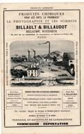 Produits Chimiques Billault Billaudot à Paris Tuilerie Du Berry / Bordeaux / Agen Usine Vierzon Forges Charenton Du Cher - France