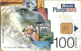 Philippines - PH-BAY-0020, BatyanTel, 10th Edition, San Pablo / Eagle, 100P, Exp.D.31/12/01, Used - Philippines