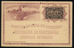 B21 - Guatemala - Postal Stationary Unused - Steam Train / Railways - Trains