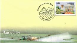 Cover COSTA RICA Agriculture Day 50th ANNIVERSARY,TRACTOR, - Costa Rica