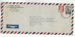 1954? UN In TURKEY Airmail COVER To  UN NY USA United Nations ,  Stamps - 1921-... Republic