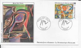75.- PARIS  Bram Van Velde  1987 Premier Jour D' Emission - FDC