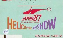 Télécarte   Hélicoptère (770) HELICOPTER - CHOPPER - Hubschrauber - HELICÓPTERO - Elicottero - Avion - Avions