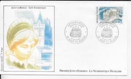 37.- AZAY-LE-RIDEAU  CITE TOURISTIQUE     1987 Premier Jour D' Emission - FDC
