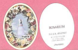 F - Rare Carte Shiseido - Rosarium - Japon -Perfume Card - Cartes Parfumées