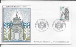 72.- LA FLECHE .- LE PRYTANEE MILITAIRE DE LA FLECHE    1987 Premier Jour D' Emission - FDC