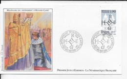 60.- NOYON .- MILLENAIRE DE L' AVENEMENT D' HUGUES CAPET     1987 Premier Jour D' Emission - FDC