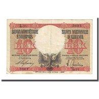 Billet, Albania, 10 Lek, Undated (1940), KM:11, B+ - Albanie