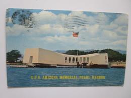 U.S.S. Arizona Memorial, Pearl Harbor. Mike Roberts C13839 Postmarked 1967 - Etats-Unis