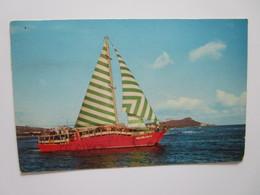 Colorful Catamaran Ale Ale Kai V Featuring Daily Pearl Harbor Cruises. Crocker S-444 Postmarked 1967 - Etats-Unis