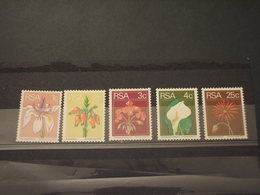 SUD AFRICA - 1974 FIORI  5 VALORI - NUOVI(++) - Sud Africa (1961-...)
