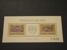 CABO VERDE - BF 1986 RETTILI - NUOVI(++) - Isola Di Capo Verde