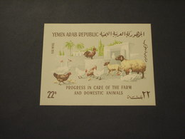 YEMEN - BF 1966 ANIMALI DOMESTICI - NUOVI(++) - Yemen
