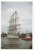 Postcard Tall Ships Race 1986 Commemorative Issue Training Ship Sedov My Ref  B22884 - Sailing Vessels