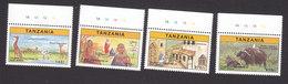 Tanzania, Scott #1613-1616, Mint Never Hinged, Tourist Attractions, Issued 1997 - Tanzania (1964-...)