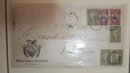 O) 1897 BOLIVIA, GEN. JOSE BALLIVIAN SCT 51 20c  - PRESIDENT TOMAS FRIAS SCT 47 1c, MINISTERIO DE HACIENDA -CONSUL DE BO - Bolivia