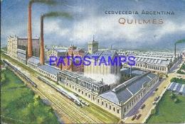 98222 ARGENTINA BUENOS AIRES QUILMES CERVECERIA BEER PUBLICITY POSTAL POSTCARD - Argentine
