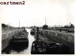 GRANDE PHOTO : MONSIN ECLUSE DU CANAL ALBERT PENICHE LIEGE CHANTIER TRAVAUX PUBLIC CONSTRUCTION GENIE CIVIL BELGIQUE - Belgio