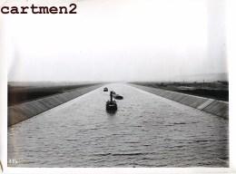 GRANDE PHOTO KASTER LANAYE CARME MONSIN HACCOURT-VROENHOVEN MEUSE HEER CANAL ALBERT GRUE CHANTIER PENICHE BELGIQUE - België