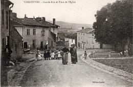54 VANDOEUVRE-LES-NANCY - Grande-Rue Et Place De L'Eglise - Animée - Vandoeuvre Les Nancy
