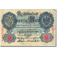 Billet, Allemagne, 20 Mark, 1914, 1914-02-19, KM:46b, TTB - [ 2] 1871-1918 : Empire Allemand