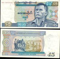 Burma - 45 Kyat 1985 UNC (stapler) - Myanmar