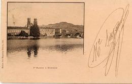 54 SAINT-MARTIN (église De Pont-à-Mousson) & MOUSSON (au Fond) - Carte Précurseur Voyagée En 1899, Voir Verso - Pont A Mousson