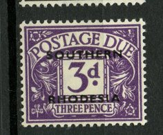 Southern Rhodesia 1951 3p Postage Due Issue #J4 MH - Southern Rhodesia (...-1964)