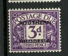 Southern Rhodesia 1951 3p Postage Due Issue #J4 MH - Rhodésie Du Sud (...-1964)