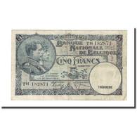 Billet, Belgique, 5 Francs, 1938-03-08, KM:108a, TB - [ 2] 1831-... : Regno Del Belgio