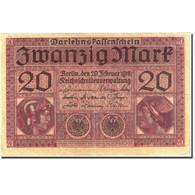 Billet, Allemagne, 20 Mark, 1917-1918, 1918-02-20, KM:57, TTB+ - [ 2] 1871-1918 : Empire Allemand