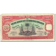 Billet, BRITISH WEST AFRICA, 20 Shillings, 1928, 1937-01-04, KM:8b, TB - Billets