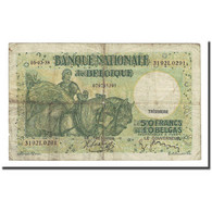 Billet, Belgique, 50 Francs-10 Belgas, 1938-03-05, KM:106, B+ - 50 Francos-10 Belgas