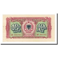 Billet, Albania, 10 Lekë, 1949, KM:24, SUP - Albanie