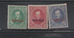 Mint Very Scarce Oficial Costa Rica Issues 1883 Overprinted Scott O1 O3 & O5 - Costa Rica