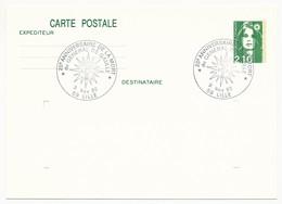 """FRANCE => CP Entier 2,10 Liberté => Oblit """"20° Anniversaire De La Mort  Du Général De Gaulle - 59 Lille"""" Nov 1990 - De Gaulle (General)"""
