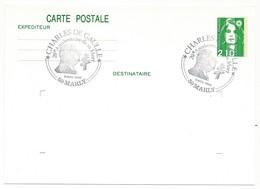 """FRANCE => CP Entier 2,10 Liberté => Oblit """"Charles De Gaulle 20° Anniversaire De Sa Mort - 59 MARLY"""" Nov 1990 - De Gaulle (General)"""