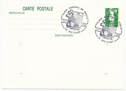 """FRANCE => CP Entier 2,10 Liberté => Oblit """"Place Général De Gaulle - 62 OYE PLAGE"""" 11.11.1990 - De Gaulle (General)"""